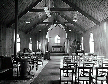 The interior of the mission church in 1979 [Z50/134/32b]